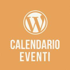 Corso online Wordpress Calendario Eventi
